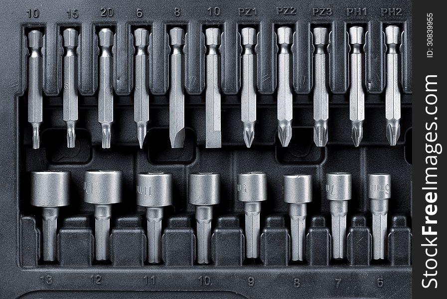 Hard metal tool bits collection