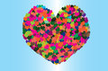 Free Big Colorful Heart Royalty Free Stock Photo - 30841515