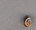 Free Snail On A Gray Cement Wall. Stock Images - 30849564