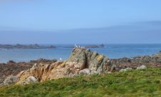 Free Rocky Shoreline On The Channel Isalnd Of Guernsey Royalty Free Stock Images - 30844689