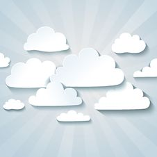Free White Clouds Or Speech Bubbles For Your Text. Royalty Free Stock Photos - 30847838