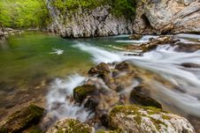 Free Mountain Stream And Waterfalls In The Forest In Spring Royalty Free Stock Photos - 30848238
