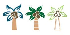 Free Palm Trees In Various Styles Stock Photography - 30849192
