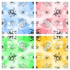 Free Seamless Floral Pattern Abstract Fabric Background Royalty Free Stock Image - 30850536