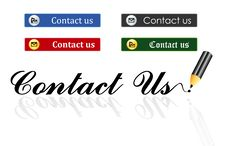 Contact Us Buttons Royalty Free Stock Photos