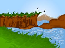 Free Nature Cartoon Landscape Royalty Free Stock Photography - 30857827