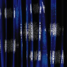 Curtain With Snowflakes Royalty Free Stock Image
