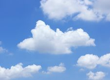 Free Blue Sky With Clouds Royalty Free Stock Image - 30858206