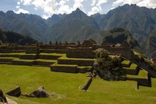 Free Machu Picchu Farming Terraces Royalty Free Stock Images - 30858879