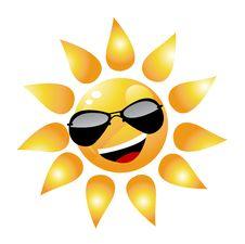 Vector Cartoon Sun Character Royalty Free Stock Photos