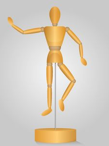 Free Wooden Pose Mannequin Stock Photo - 30862780