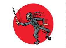 Free Ninja Cartoon Stock Photography - 30862832