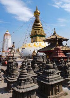 Free The Stupa Of Swayambunath, Nepal Stock Photos - 30863953