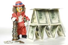 Free Clown Near A Dollar House Stock Photography - 30865562