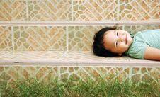 Free Laying Smile Kid Royalty Free Stock Photos - 30867688