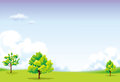 Free Green Field And Blue Sky Royalty Free Stock Image - 30878946