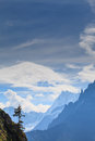 Free Snow Covered Mountains And Rocky Peaks In The French Alps Royalty Free Stock Photo - 30879305