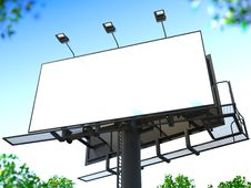 Free Blank Billboard. Stock Photography - 30870942