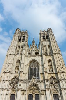 The St. Michael And Gudula Cathedral In Brussels