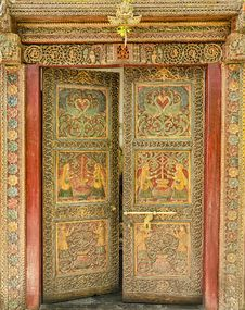 Free Designer Indian Door Stock Images - 30873194