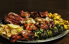 Indian Kabab Plater Stock Images