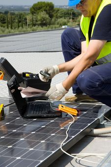 Free Photovoltaic Craftsman Stock Images - 30874494