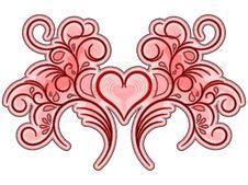 Free Flourish Valentine Ornament Royalty Free Stock Photo - 30876005