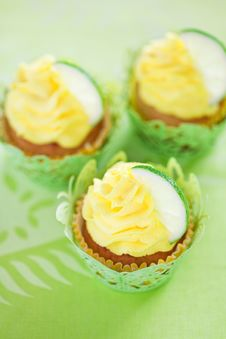 Free Lime Cupcake Royalty Free Stock Image - 30876076