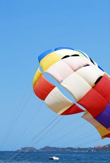 Free Parachute And Sky Stock Photos - 30878133