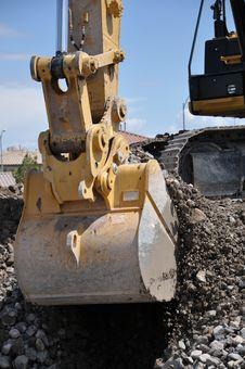 Free Hydraulic Excavator Bucket Stock Image - 30878161