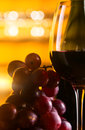 Free Grape And Glass With Red Wine Royalty Free Stock Photos - 30883128
