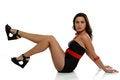 Free Fashion Model Wearing A Black Dress Stock Photo - 30888780