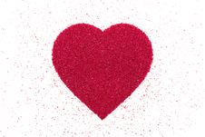 Free Heart Made Of Red Sand. Royalty Free Stock Photo - 30884415