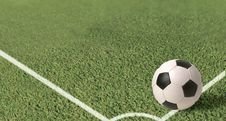 Free Green Soccer Ball Field Royalty Free Stock Images - 30887199