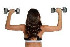 Free Young Brunette Woman Working Out Royalty Free Stock Images - 30888759