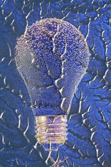 Free Electric Light Bulb On Blue Pattern Stock Photos - 30889893