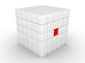Free One Cube Is Pressed Inwards Stock Image - 30891551