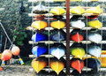 Free Colourful Canoes Stock Photo - 30894080