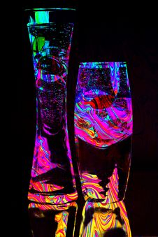 Free Two Glasses Abstract Stock Photography - 30890192