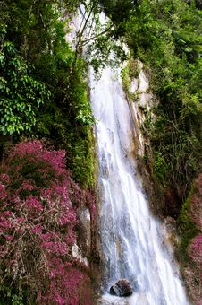 Free Waterfall Near Tomok Village. Royalty Free Stock Photo - 30893805