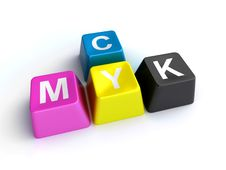 Free Cmyk Keys Royalty Free Stock Images - 30894059
