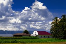 Catholic Church Gereja Pentakosta Indonesia. Siarsam, Samosir Is Royalty Free Stock Photo
