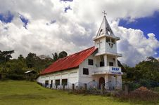 Catholic Church In Samosir Island. HKPB Sinaga Uruk. Royalty Free Stock Image