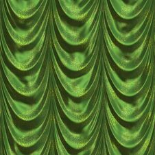 Green Curtains Royalty Free Stock Photography