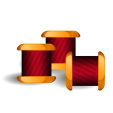 Free Group Of Thread Reels Isolated Royalty Free Stock Photography - 30899977