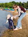 Free Mother With Child On The Coast Royalty Free Stock Image - 3099156