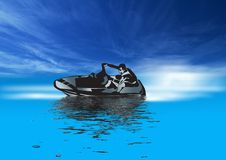 Free Jet Skiing In Blue Stock Photos - 3090723
