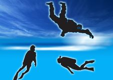 Free Three Scuba Divers Royalty Free Stock Photo - 3090765