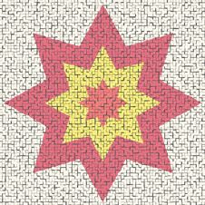 Free Big Mosaic Star Royalty Free Stock Photography - 3091097