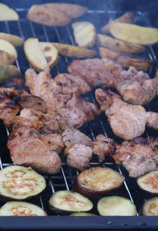 Free Barbecue Grilled Meat Stock Image - 3091401